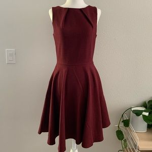 ModCloth Wine Fit and Flare Dress